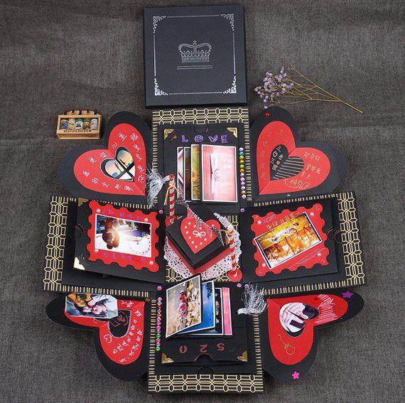 EBG-15 * 15cm Personalisiertes Fotogeschenk, Explosionsbox, Valentinstagsgeschenk für Paare, Liebesgeschenk, deu   – DIY