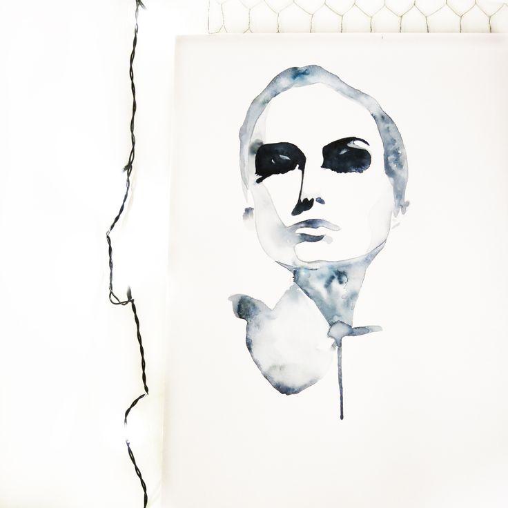 Illustrator: Emmelie Strand // Inspiration: Pinterest // Technique: Watercolor