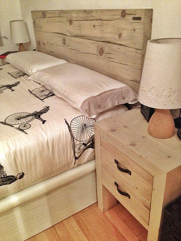 Cabezal rústica de madera reciclada