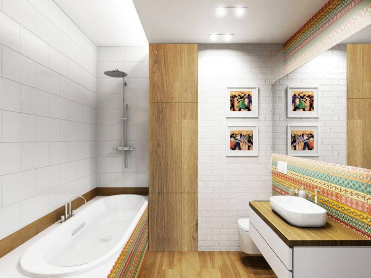 Oryginalna, nowoczesna łazienka. Zobacz więcej na: https://www.homify.pl/katalogi-inspiracji/86952/10-niekonwencjonalnie-pieknych-lazienek