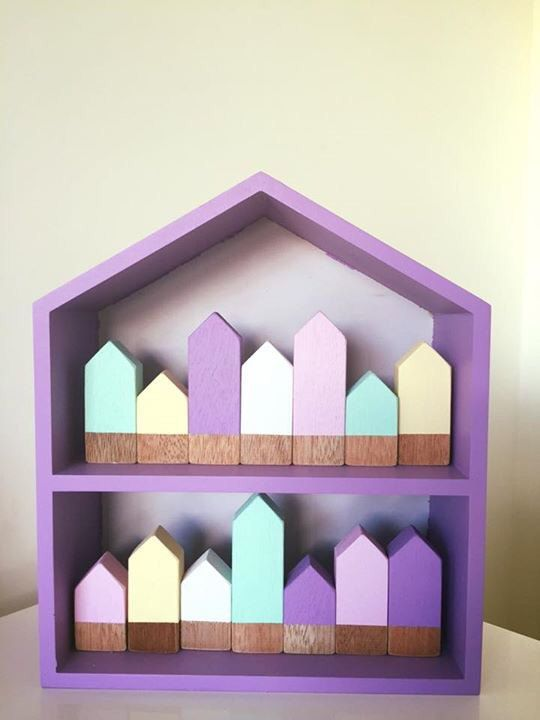 Mini Houses Handmade Wooden Nursery by TwoLittleLovesShop on Etsy