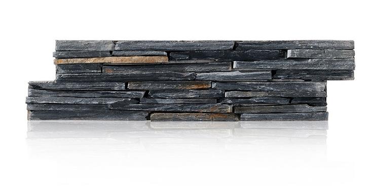 STONEPANEL® ARDOISE NOIRE LAME FINE. Ardoise traditionnelle avec des nuances de noir et de bleu et une composition totalement unique qui apporte une touche de style pour tout type d'ambiance. #pierre #naturelle #revetement #murs #natural #stone #piedra #natural