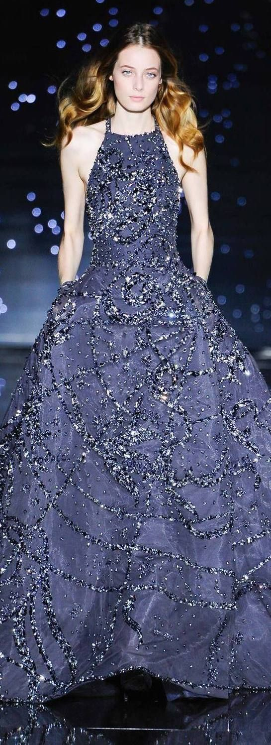 Fall 2015 Couture Zuhair Murad Blue Beaded Evening Gown // Pinned by Dauphine Magazine x Castlefield - Curated by Castlefield Bridal Company & Branding Atelier and delivering the ultimate experience for the haute couture connoisseur! Visit www.dauphinemagazine.com, @dauphinemagazine on Instagram, and @dauphinemag on Pinterest • Visit Castlefield: www.castlefield.co and @ castlefieldco on Instagram / Luxury, fashion, weddings and bridal style, décor, travel, art, design, jewelry, photography