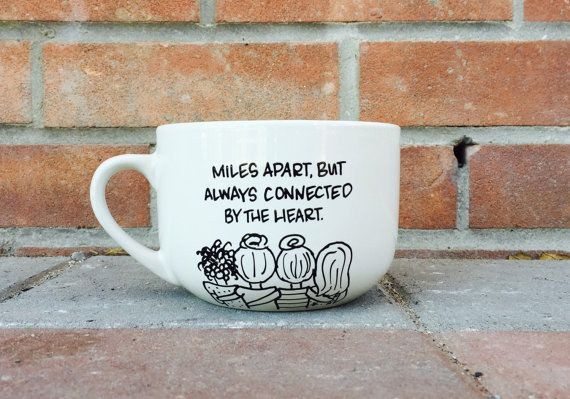 This heartfelt set for long-distance BFFs. | 26 Adorable Mugs To Give Your BFF