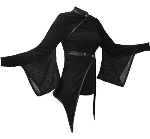Vodabox - Kimono Shrug & Wrap w/ leather look Trim & Polo Neck    $107.80