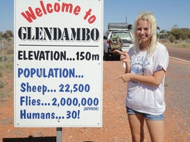 Glendambo - unique signs in #Australia This is such typical aussie humour.  The fly population is probably underestimated...lol