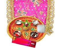 A complete puja kit for Navratri Puja Occasion.