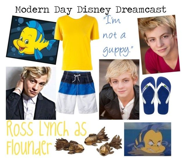 """""""Modern Day Disney Dreamcast:Flounder"""" by iluvepeeta ❤ liked on Polyvore featuring Gap, Havaianas, Maison Margiela and modern"""