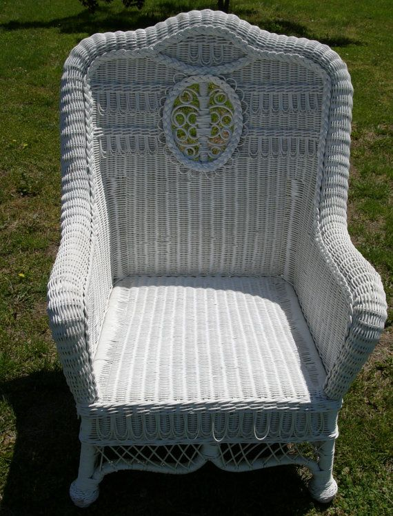 Large Antique Wicker Chair Nice Great By DreamCollectibles On Etsy, $650.00