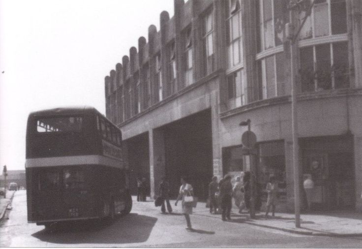 The bus garage, Singleton Street, Swansea.