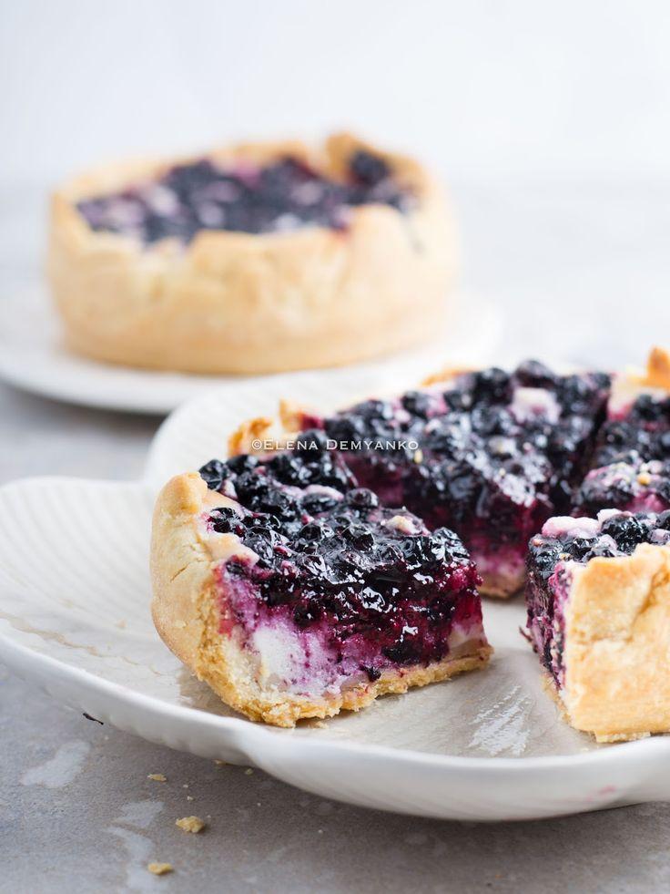 Elena Demyanko: Нежный черничный пирог со сливочным сыром / Bluebe...