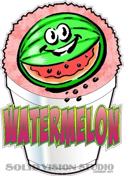 """6.5"""" Watermelon Shave Shaved Italian Ice Snow Cone Concession Food Truck Decal #SolidVisionStudio"""