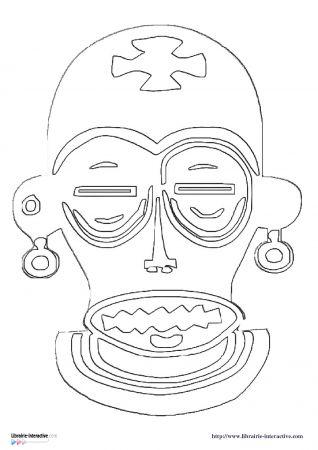 Les 41 meilleures images propos de masques sur pinterest - Motifs africains maternelle ...