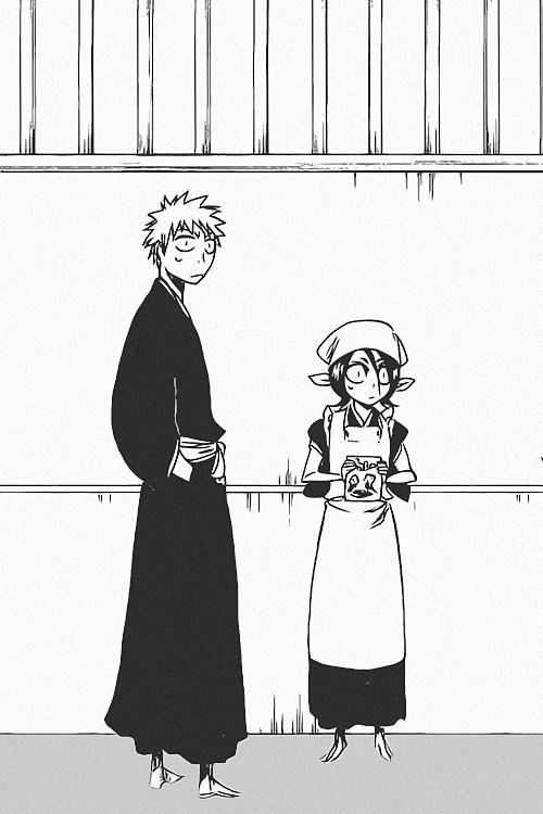 Ichigo x Rukia. Umm what chapter manga is this from!? I love it! Lol