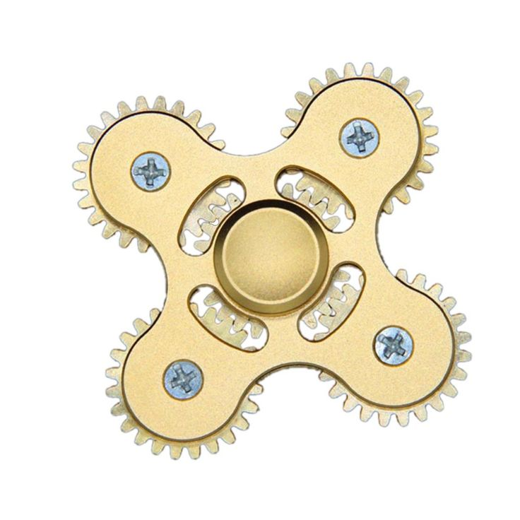 Hand Puzzle Finger Fidget EDC Decompression Toy Finger spinner Four-angle Five Mechanical Gear Linkage Gift For Kids Adult #Affiliate