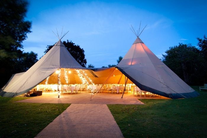 The Teepee Tent. Photo by Amy Lam Photography. Read about this style on…
