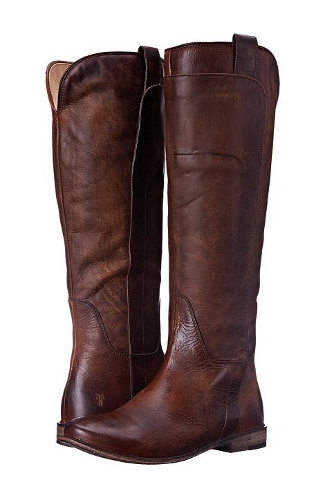 Frye Paige Tall Riding (Dark Brown Antique Pull Up) Women's Pull-on Boots - Frye, Paige Tall Riding, 76534, Women's Casual Boots, Equestrian, Casual Pull-on, Boot, Footwear, Shoes, Gift - Outfit Ideas And Street Style 2017