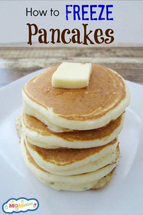 how to freeze pancakes the easy way! stock up your freezer and have these ready to go for a quick homemade breakfast ! via MOMables.com