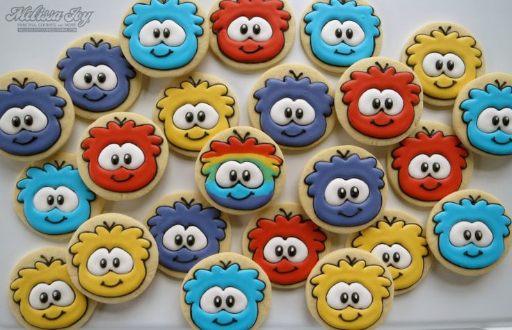 Club Penguin Puffle Cookies-how to