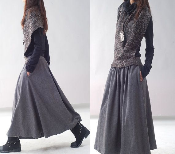 Poetry  woolen shawl dress Q1217 by idea2lifestyle on Etsy, $78.00