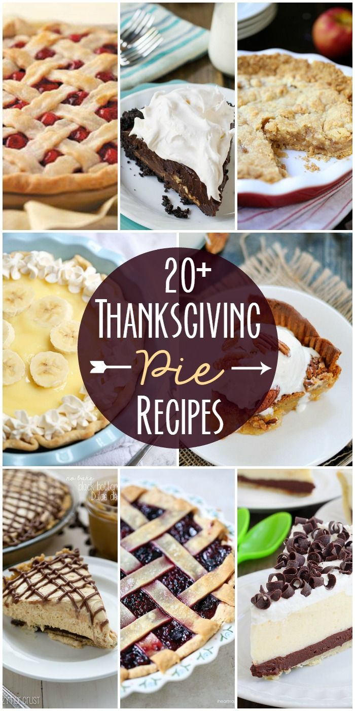 20+ Delicious Pie Recipes ~ Perfect for thanksgiving!!