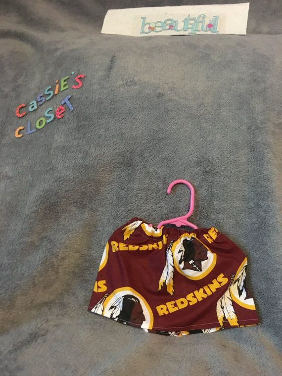 Have fun dressing up your best friend for any occasion with CaSsiEs CLosEt line of MIX and MATCH SPORTS! Here shown is the is REDSKINS SKIRT.  Elastic waist. Finishing touches may vary depending on color. I ship USPS priority shipping so you have insurance and a tracking number. Thank you for shopping!  Dont forget to check out our Cassie N Me collection of matching gi...