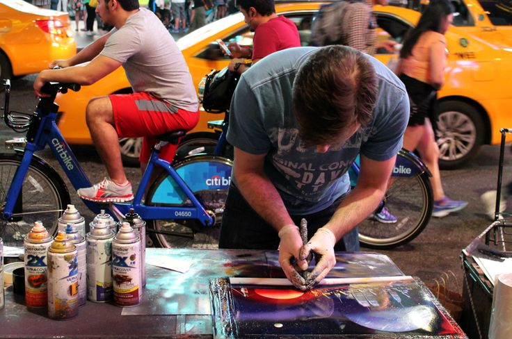 Street art in Times Square, NYC