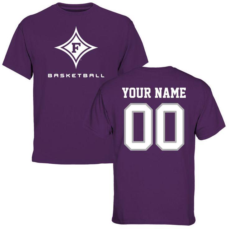 Furman Paladins Personalized Basketball T-Shirt - Purple