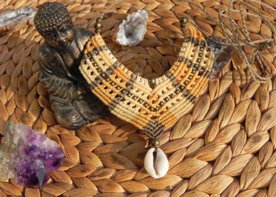 Hey, I found this really awesome Etsy listing at https://www.etsy.com/listing/251942495/macrame-necklace-with-shell-boho-hippie