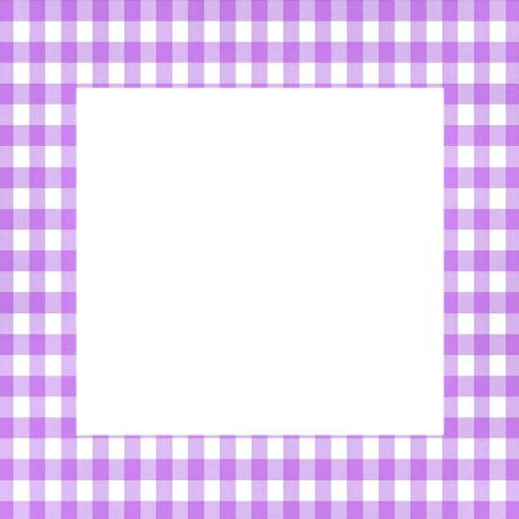 purple gingham frame scrapbook seasons spring