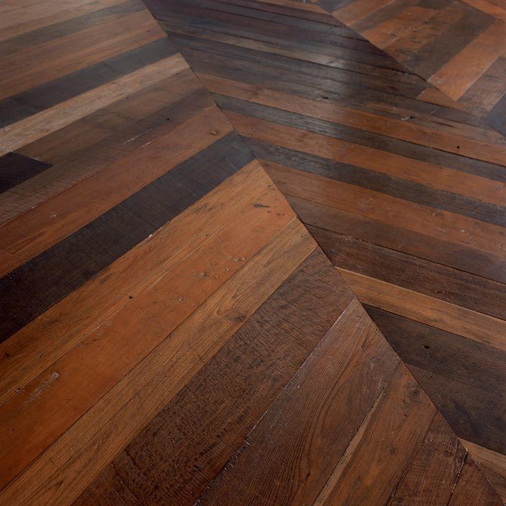Aged teak flooring