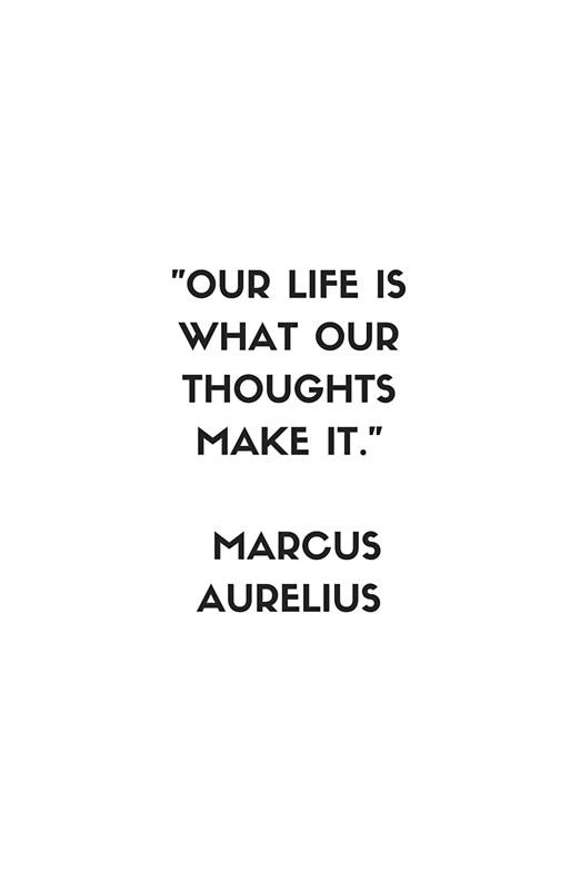 MARCUS AURELIUS Stoic Philosophy Quote | Metal Print