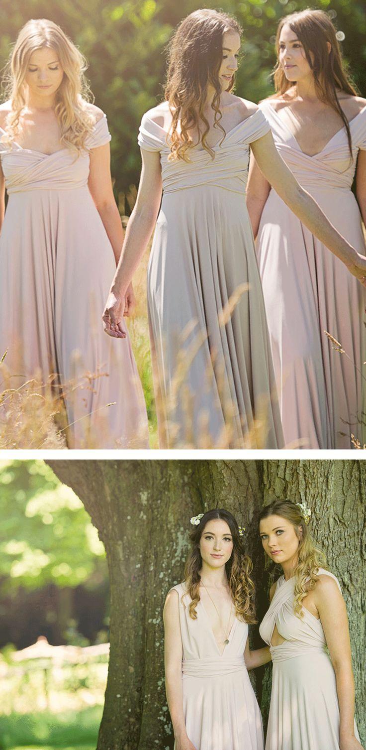 230 best multi way bridesmaids dresses images on pinterest blush bridesmaids dresses flower girl dresses to match colour feature ombrellifo Images