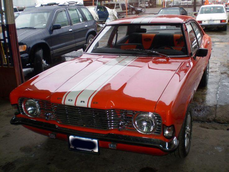 Ford Cortina Mk3 1973 - Orange with Rally stripes - V8 Engine