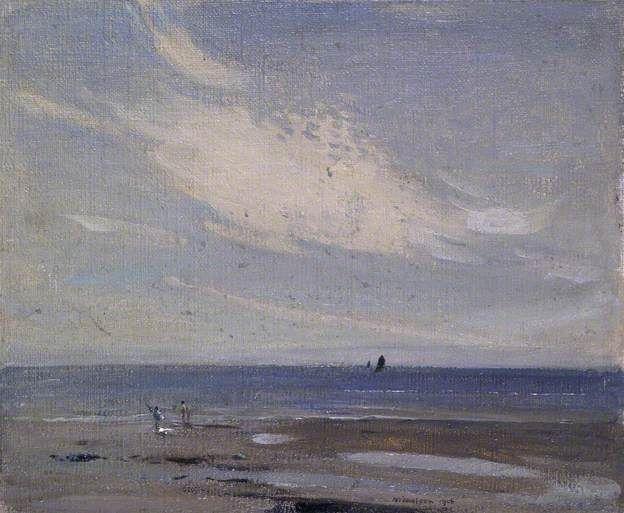 William Nicholson, Coast Scene, 1906, Oil