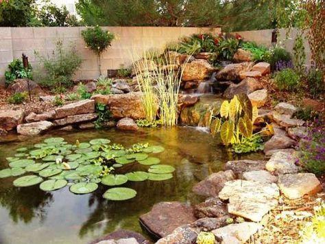 Como decorar un estanque