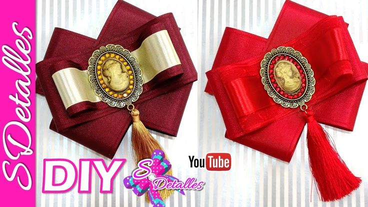 How to make Ribbon Bows: Bow Brooch #3  | Video# S3 | SDetalles | DIY - YouTube