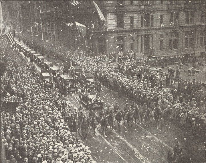 The welcoming of Queen Marie of Romania in New York, 1926.