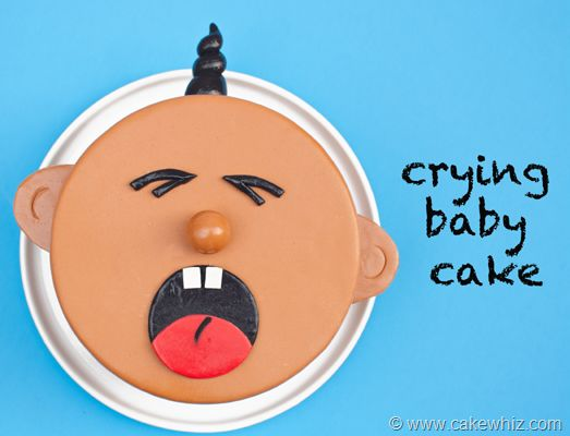 crying  baby cake by cakewhiz...  so cute :)