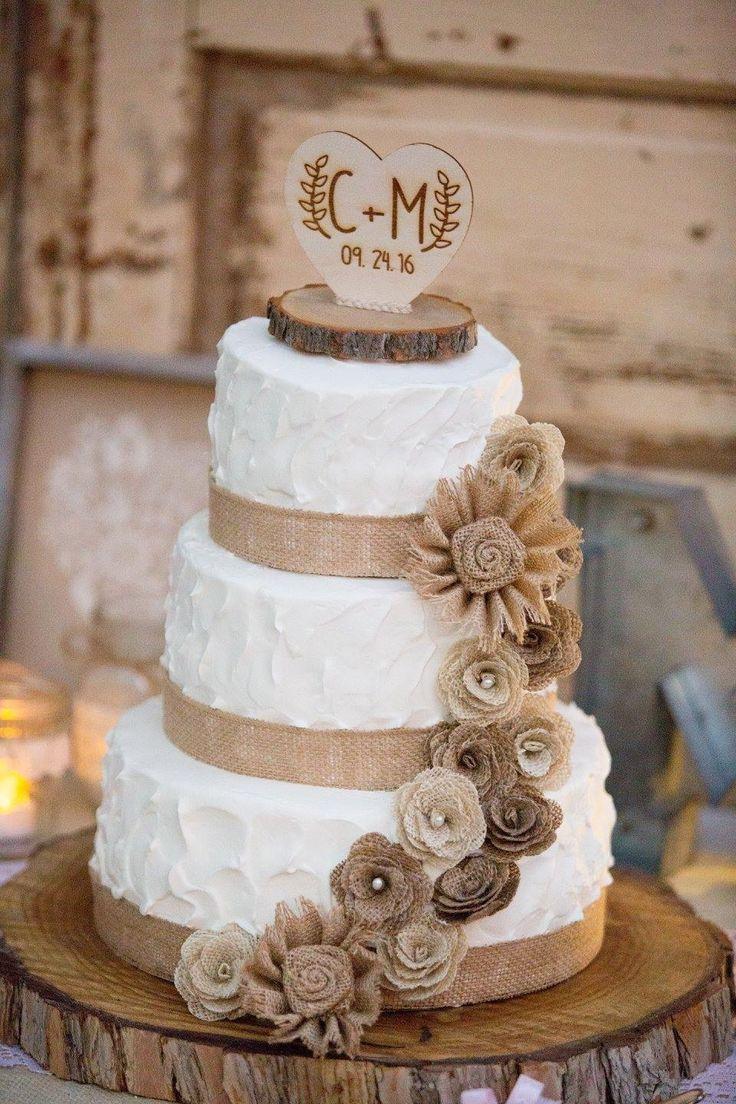Rustic Wedding Cake, rustic wedding, burlap cake, cake