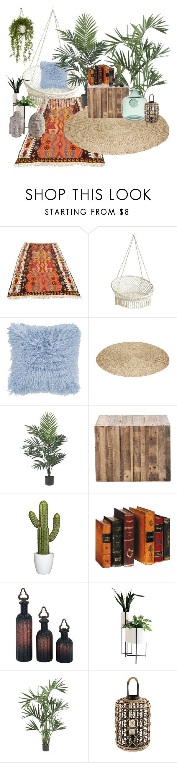 """""""garden at home"""" by lyess on Polyvore featuring interior, interiors, interior design, maison, home decor, interior decorating, Pier 1 Imports, Nearly Natural et Relique"""