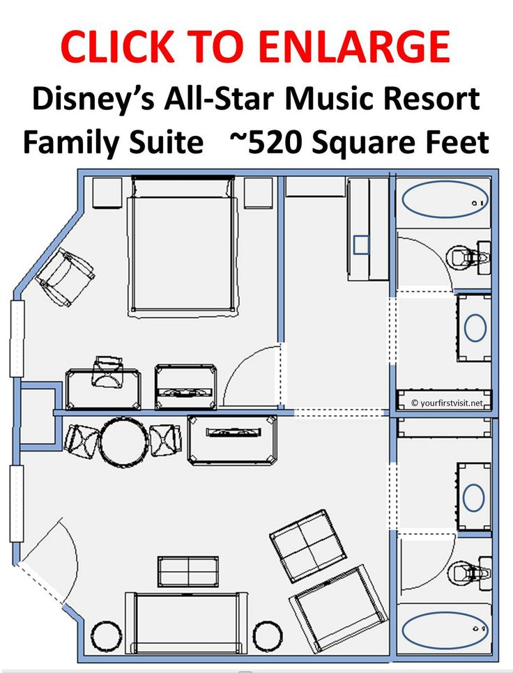 review the family suites at disney s all star music all star music family suite floor plan valine