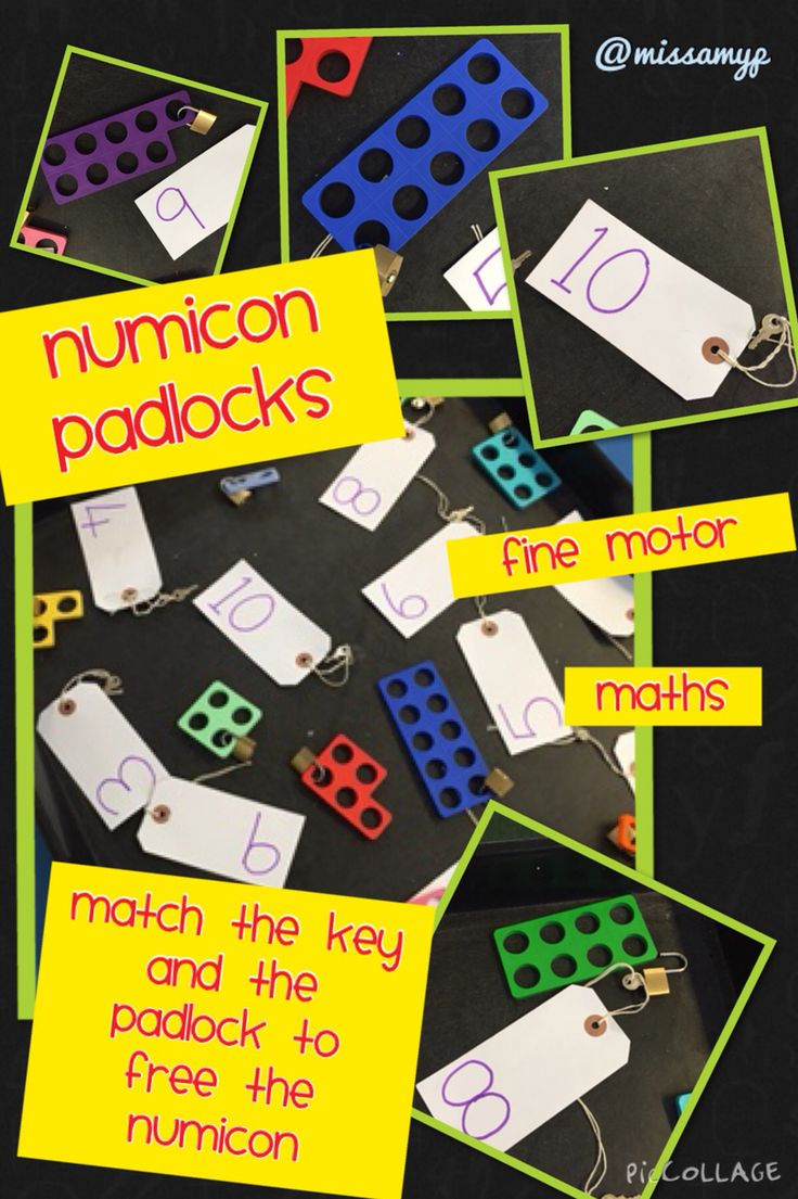 Numicon Padlocks. Fine motor and maths in one :-)
