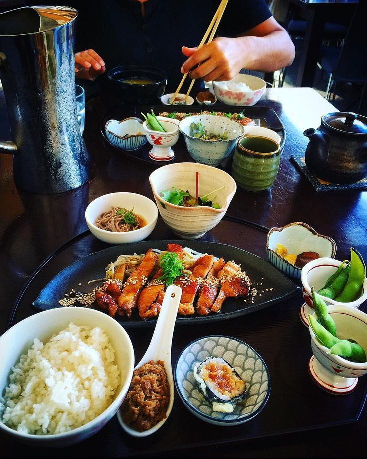 We had awesome #Japanese #lunch sets down at #Satsuki in #Subiaco today. #teriyaki #chicken and #tuna #tataki sets served with #miso soup #edimame #deepfried #sushi rice salad cold #soba #noodles and pickle... What a feast!! Give our page a follow and next time you dine out don't forget to tag us @dineoutperth and #dineoutperth for your chance to feature!  #eatdrinkperth #perthgram #perthgrub #perthfoodie #subi #food #foodie #japanesefood #pertheats #perthlunch #greentea #perthfood #buffet…