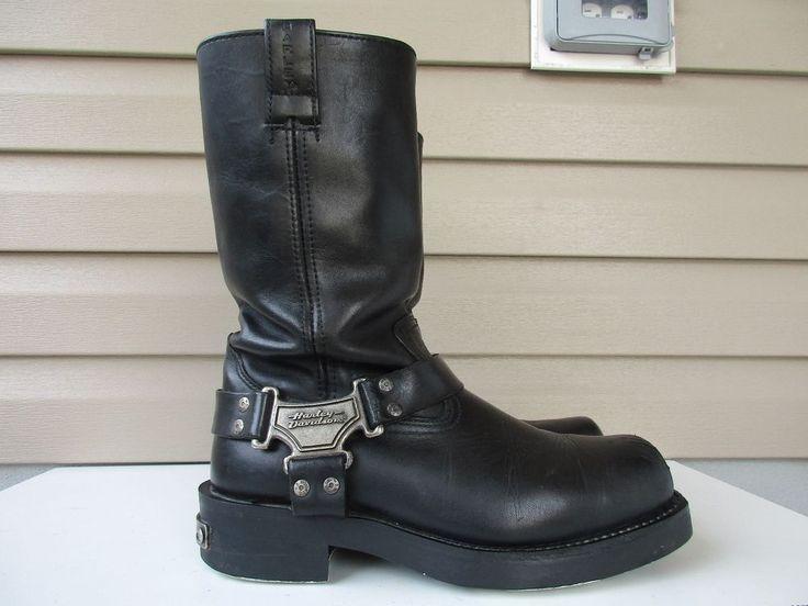 Harley Davidson MEN Mega Harness Boots USA 9.5 Black 91345 #HarleyDavidson #Motorcycle