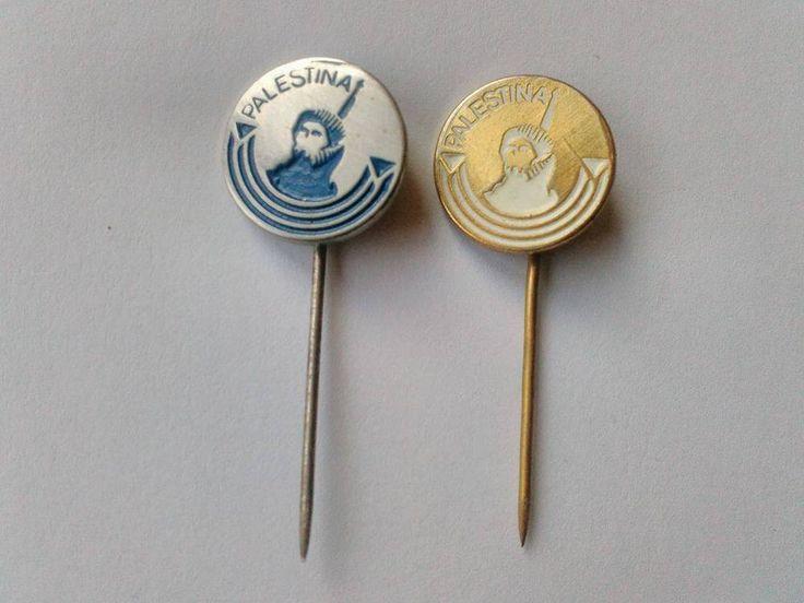 Palestine Liberation Organization PLO Fateh Vintage Rare Pins 1970 Yasser Arafat