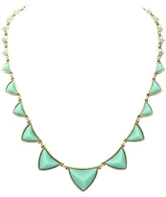 House of Harlow 1960 Pyramid Station Necklace in Mint Green, $75 Love this, i have it in black.