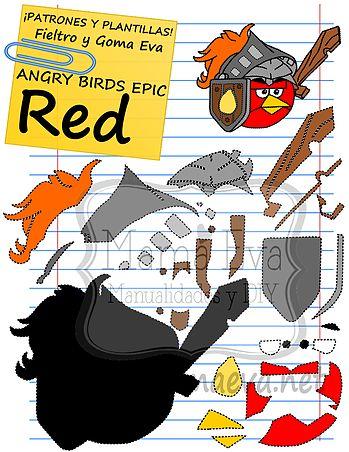 Plantillas Personajes Actuales Angry Birds