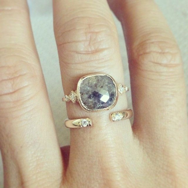rings gold products ring bezel milgrain engagement and gray fire halo sides moissanite diamond white img