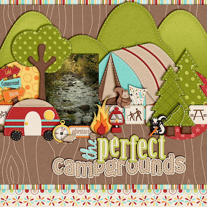 Summertime Fun - Camping Out by Jady Day Studio Brown Wood bg paper and tan alpha from Summertime Fun - Backyard Play by Jady Day Studio